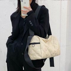 Single shoulder broadband new versatile women's bag