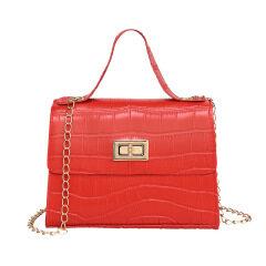 Foreign trade women's bag wholesale alligator buckle portable platinum bag