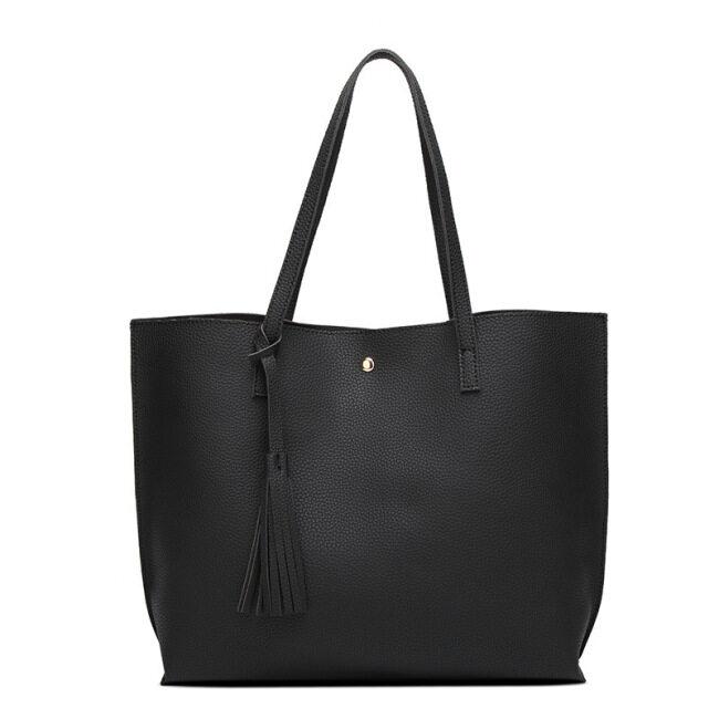 Cross border women's bag tassel shoulder bag portable large capacity tote bag shopping bag