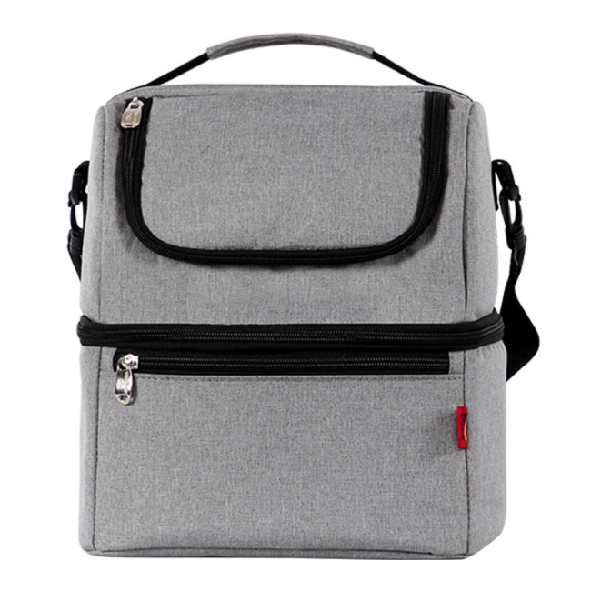 Double-layer ice pack waterproof and leak proof insulation bag multi-functional lunch bag fresh-keeping Bento bag
