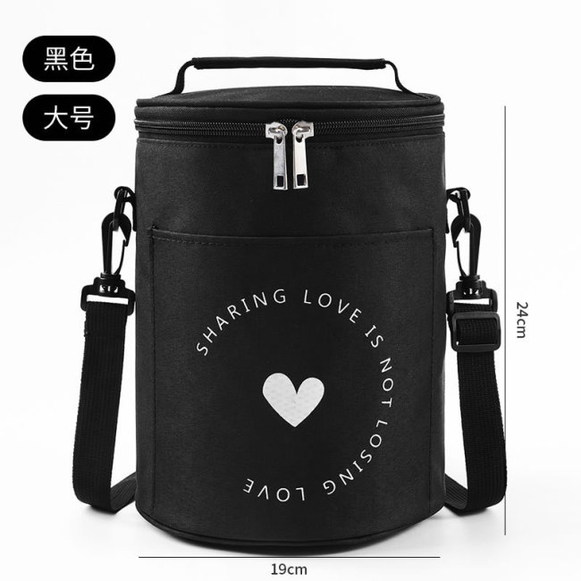 Factory direct round insulation lunch box bag insulation bag large aluminum foil portable lunch bag work with rice insulation bag