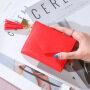 Factory direct new lady's purse female tassel pendant litchi pattern wallet card bag zero wallet spot wholesale