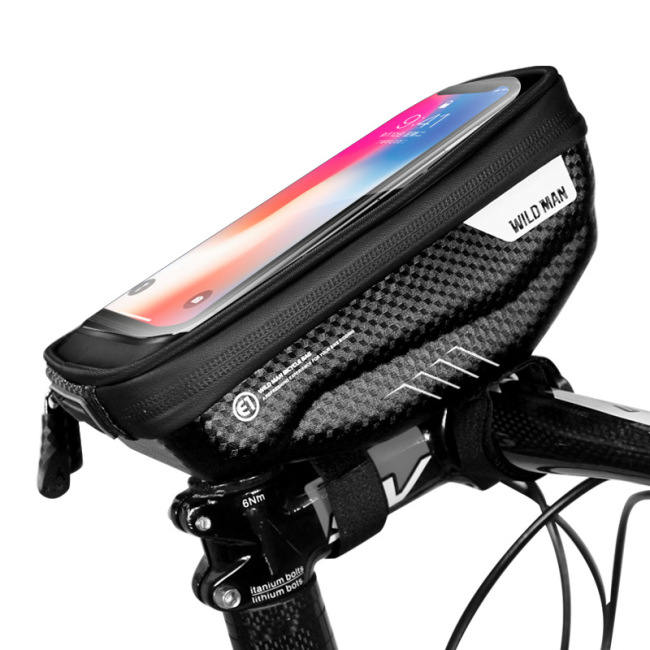 Bicycle bag, hard shell handle bag, cross border touch screen mobile phone bag, mountain bike front beam bag, road bike bag