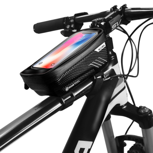 Hard shell bicycle bag mountain bike front beam bag upper tube mobile phone bag saddle bag cross border riding equipment