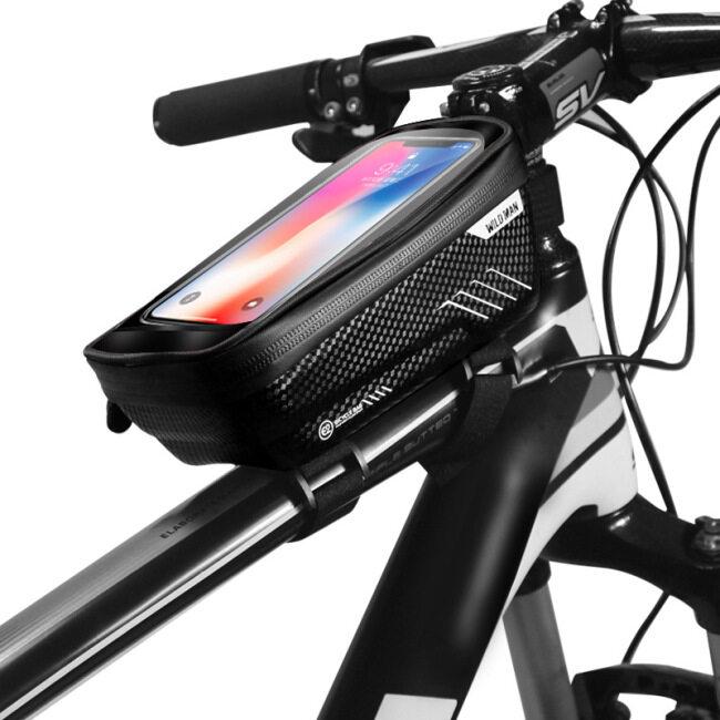 Hard shell bicycle bag mountain bike front beam bag upper tube mobile phone bag saddle bag cross border riding equipment
