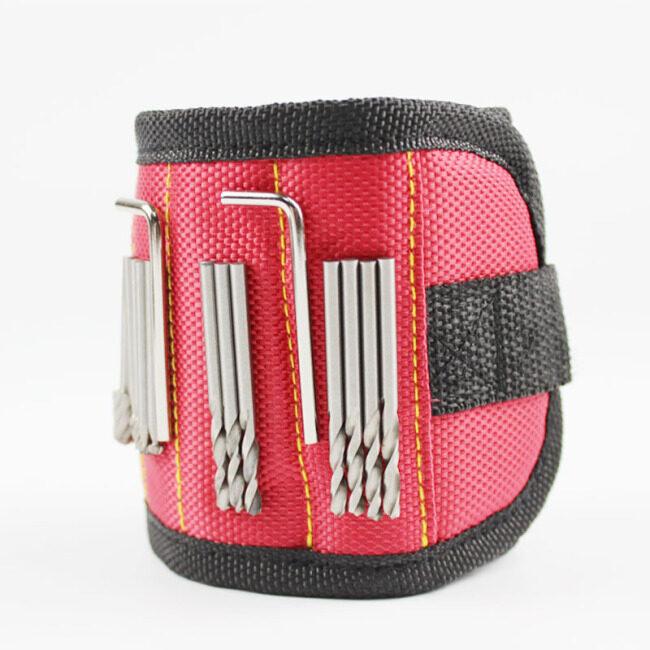 Powerful magnetic wrist strap tool storage arm strap magnetic wrist strap 3 magnets s2-3