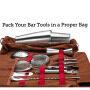 New bartender tool bag bar mixer roll bag multifunctional bartender cutlery Kit