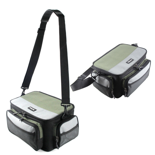 081 spot color contrast square road Yabao fishing gear bag fishing boat accessories bag cross border special supply