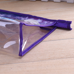 PVC zipper packaging bag custom logo plastic cosmetic storage bag environmental protection transparent zipper PVC bag wholesale