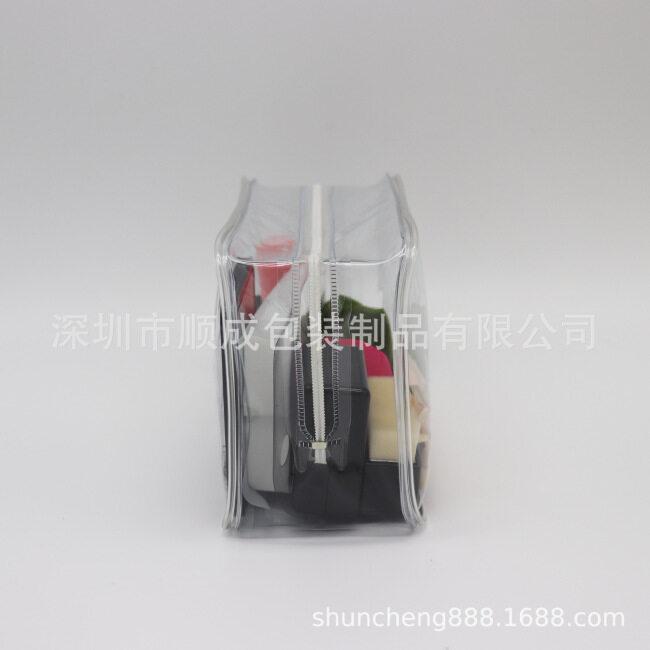 PVC environmental protection travel washing storage bag PVC cosmetic bag PVC transparent rubber bone zipper bag