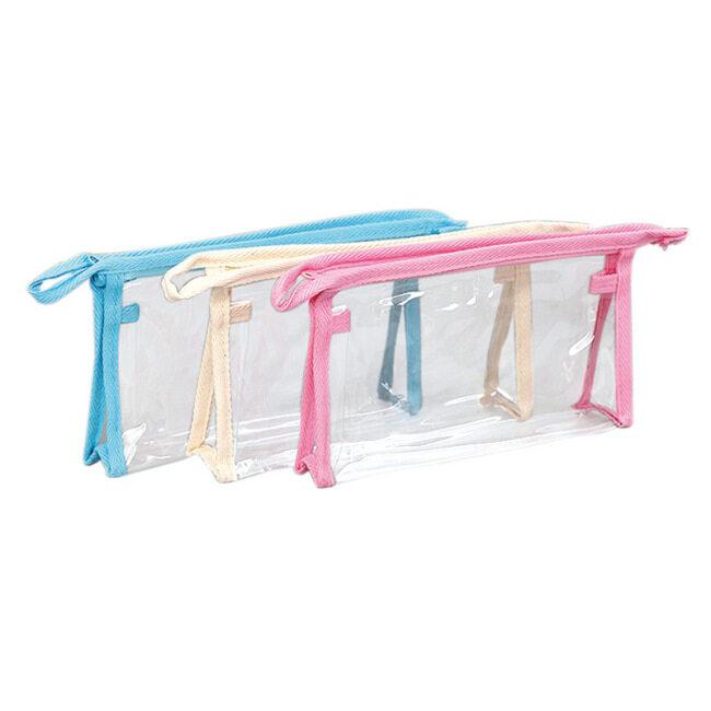 Spot wholesale PVC zipper bag customized color environmental protection plastic self sealing Travel Wash storage bag customized logo