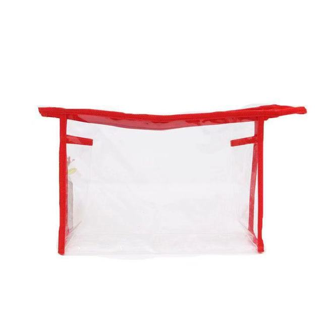 Manufacturer customized environment friendly PVC transparent three-dimensional plastic bone cosmetic toiletries underwear packaging portable zipper bag