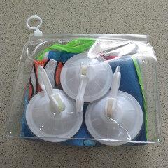 Environment friendly transparent soft PVC plastic bag PVC three-dimensional zipper bag travel suit bag EVA cosmetic bag