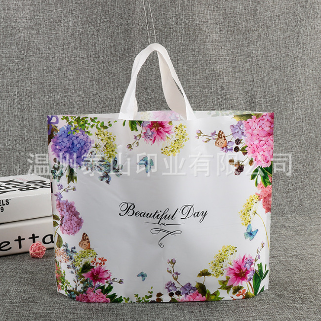 PE portable clothing bags, environmental protection, non-toxic and tasteless PE shopping bags
