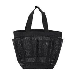 Wholesale portable mesh beach bag bath Swimming bag 8 pocket mesh storage bag transparent Travel Wash Bag