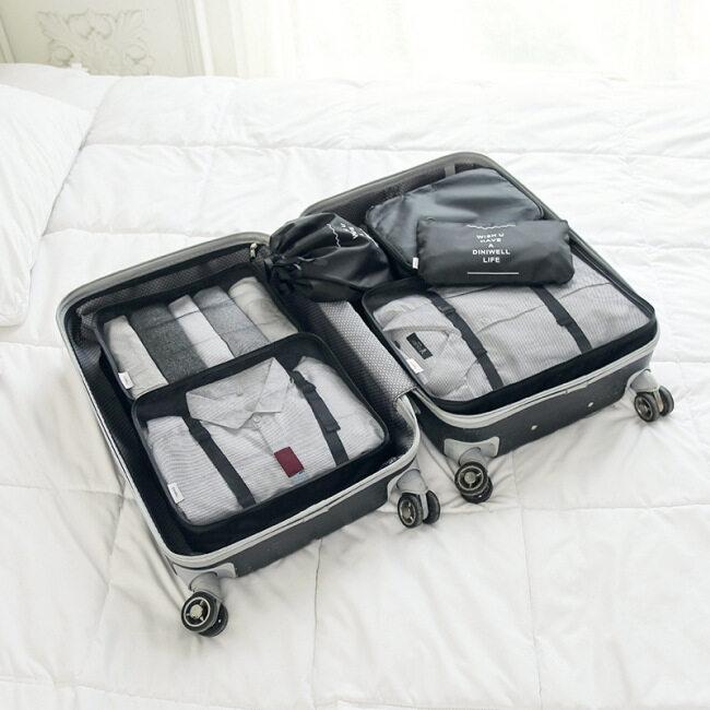 Diniwell new waterproof travel storage bag luggage clothing sorting bag storage set 6 pieces