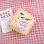 Lovely girl heart ins large capacity aunt towel storage bag sanitary napkin storage Portable Mini Cosmetic Bag