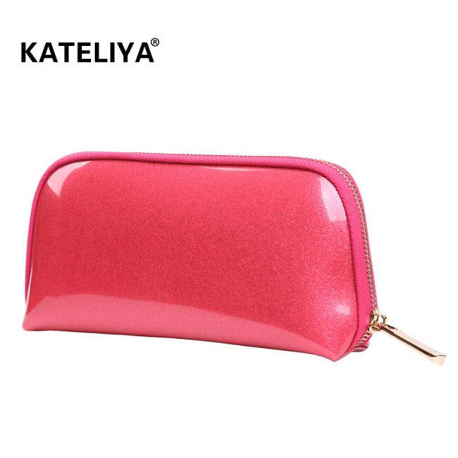 Korean new travel storage bag, wash bag, custom logo cosmetic bag, PVC shell cosmetic bag for women