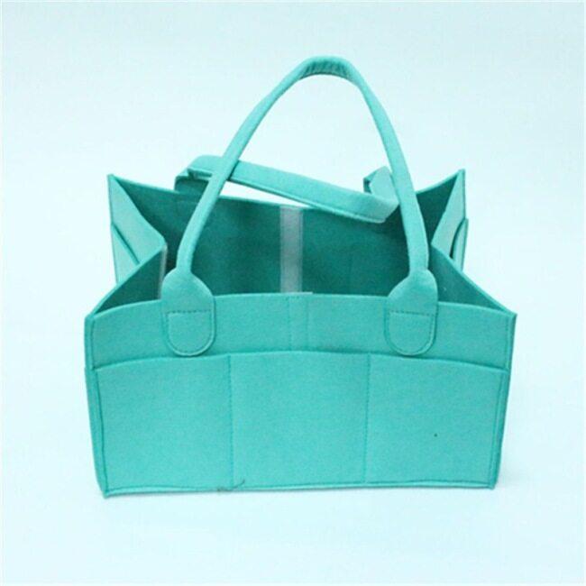 Multifunctional felt diaper storage bag cosmetic finishing bag manufacturer folding travel storage bag customization