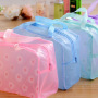 Creative home floral transparent waterproof cosmetic bag washing bag bath products storage bag