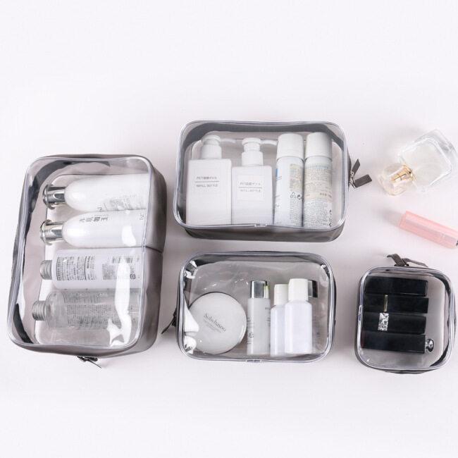 PVC cosmetic bag transparent storage bag travel storage bag skin care bathroom wash bag lazy convenient wash bag
