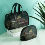 New Mesh Handbag gargle make up travel storage bag transparent bath Swimming bag mesh breathable three piece set