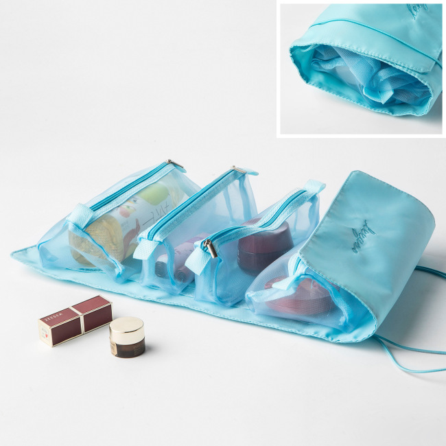 2021 detachable cosmetic bag portable large capacity four in one portable folding travel cosmetics storage wash bag