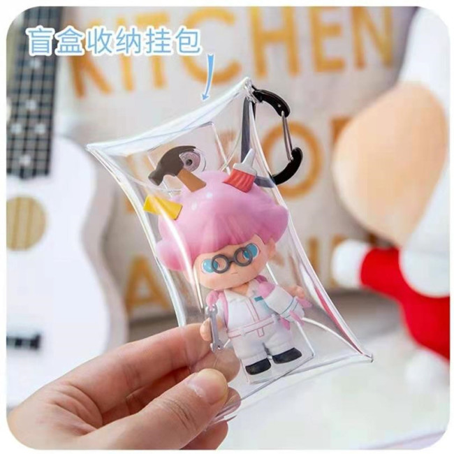 Korean Mini transparent PVC zero wallet bubble mat blind box storage bag lipstick headset key bag