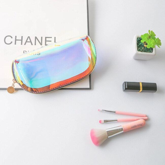 Makeup bag laser Korean portable travel shell type colorful multi-function transparent waterproof cosmetic storage bag