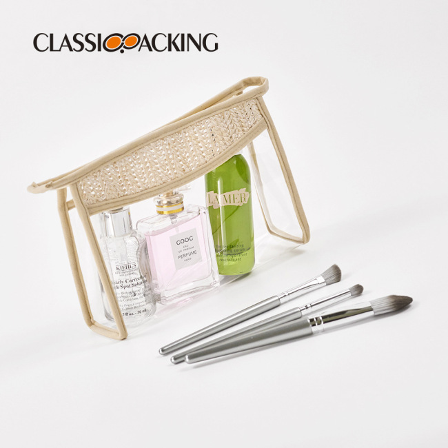 Hand woven waterproof cosmetic bag manufacturer customized portable cosmetic bag