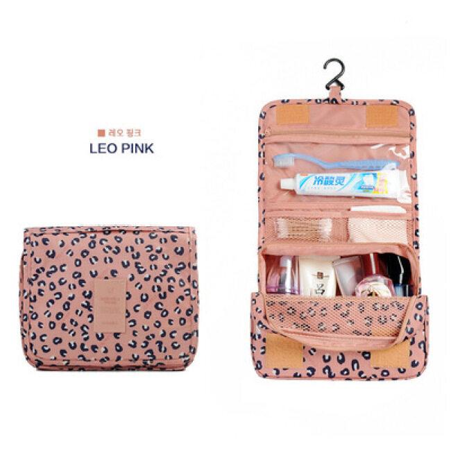 Manufacturer travel hook wash bag large capacity cosmetic storage bag cosmetic bag foldable suspension storage bag