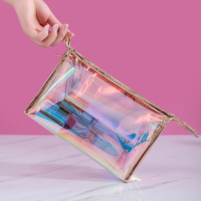 Transparent cosmetic bag women's simple waterproof large capacity fitness wash bag bath bag travel portable storage bag