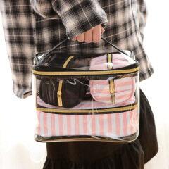 Make up bag new PVC portable make-up bag four piece set portable multi-function washing bag storage bag wholesale