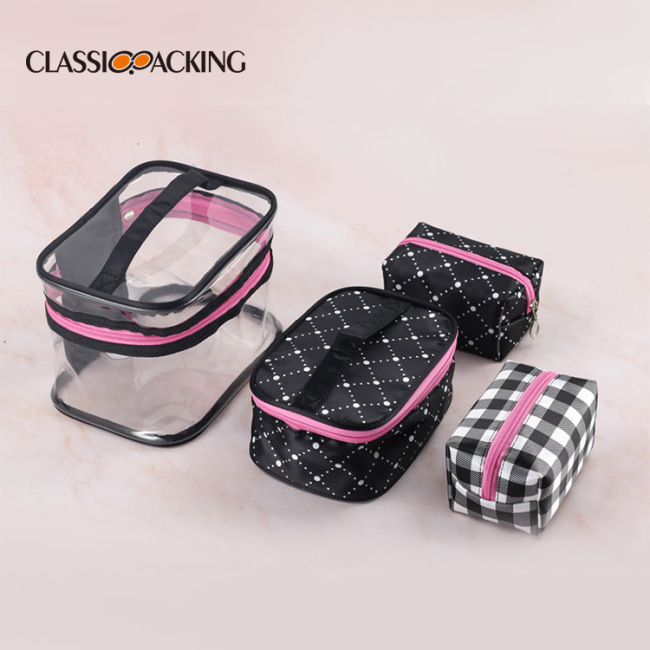 Fashion combination portable wash bag travel cosmetics storage multifunctional portable waterproof four piece suit cosmetic bag