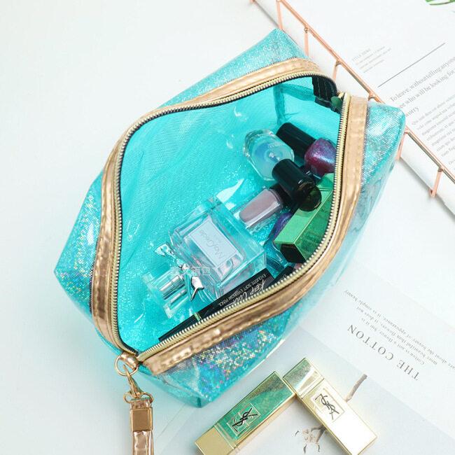PVC laser transparent cosmetic bag portable washing bag travel storage bag large capacity cosmetic bag women's bag customization
