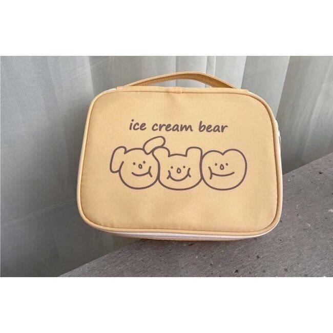 Korean cute bear make-up bag Japanese student storage bag girl portable wash bag large capacity
