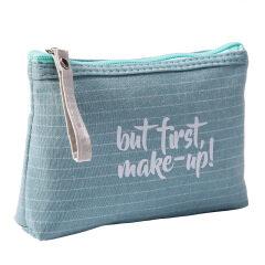 New portable English letters women's zipper Cosmetic Bag Travel Toiletries storage bag zero wallet
