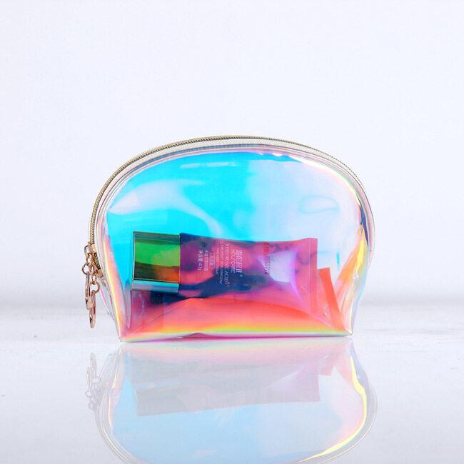 Clear Laser Plastic PVC Transparent cosmetic bag