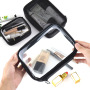 Factory customized wholesale transparent waterproof portable large capacity carry on small cosmetic bag women travel wash storage bag