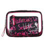 2021 foreign trade factory direct supply women's three piece make-up bag, transparent wash bag, storage bag, one for distribution