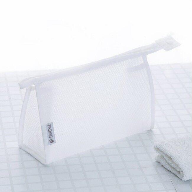 Travel storage bag portable PVC mesh wash bag waterproof transparent Cosmetic Bag Travel cosmetics storage bag