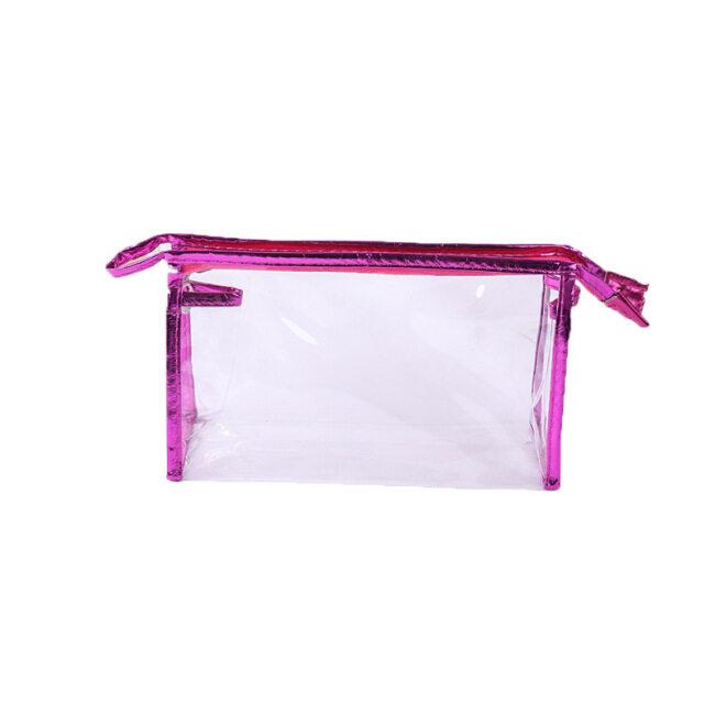 Transparent cosmetic bag large capacity wash bag PVC waterproof portable storage bag travel storage bag can be customized logo