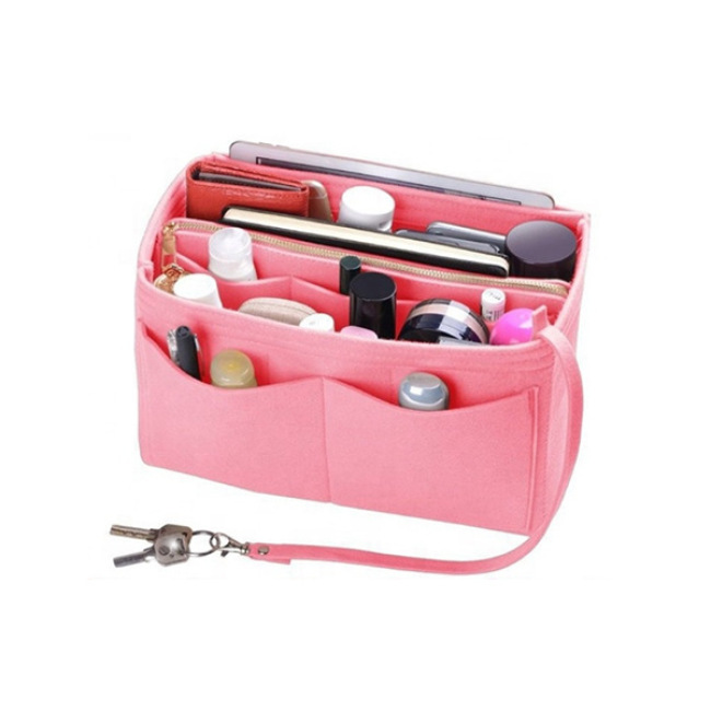 Blanket bag new blanket cosmetic storage bag foldable customized convenient blanket cosmetic bag with key chain