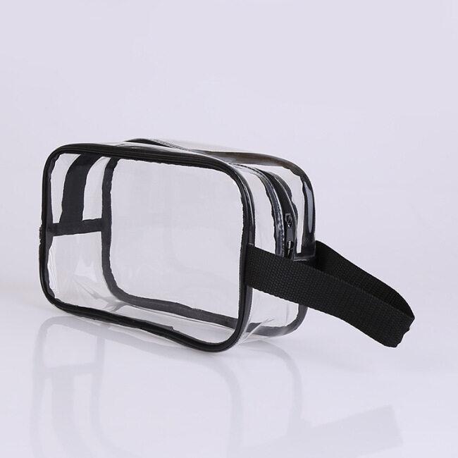 Transparent cosmetic bag customized EVA plastic zipper bag wash bag storage bag laser PVC handbag customized