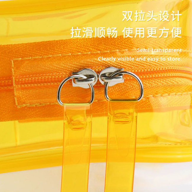 Ins waterproof cosmetic bag transparent PVC large capacity travel portable storage bag can be customized in stock