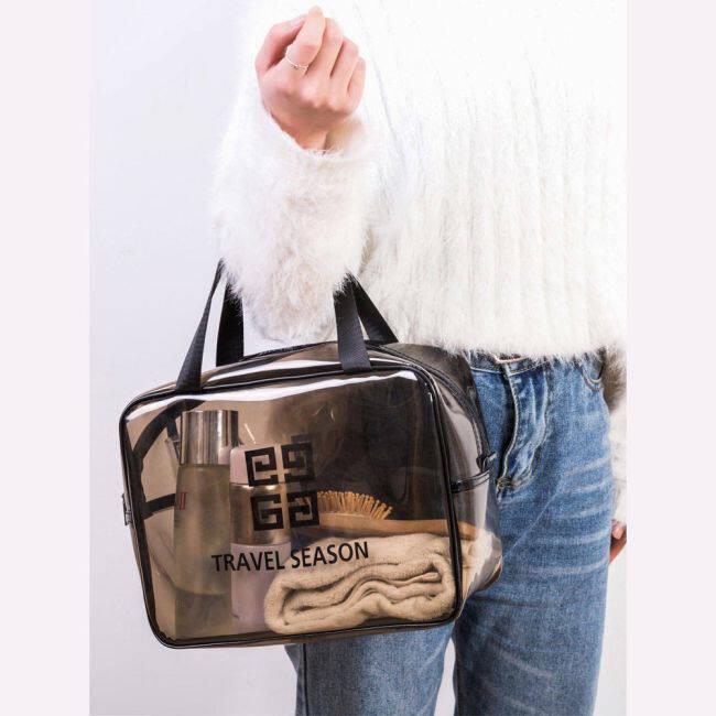 Make up bag 2020 new style waterproof toilet bag cosmetic tabletop pocket box women's Travel Wash Bag