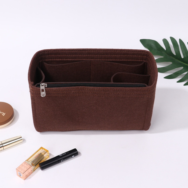 New felt cosmetic bag travel bag manufacturer customized felt inner bag middle bag storage bag