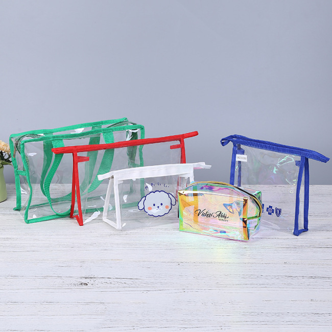 Portable Transparent PVC Cosmetic Packaging Bag