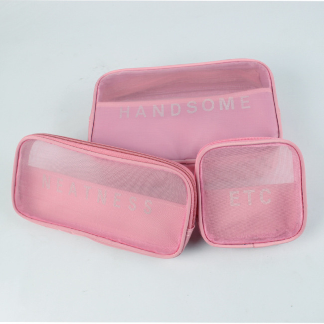 Manufacturer's new travel multi-purpose cosmetic bag portable mesh storage bag wash storage bag can be customized with logo