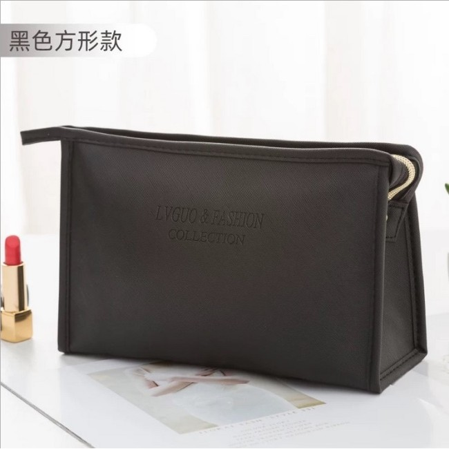 Manufacturers wholesale custom new Pu cross pattern waterproof make-up bag travel storage wash storage bag logo